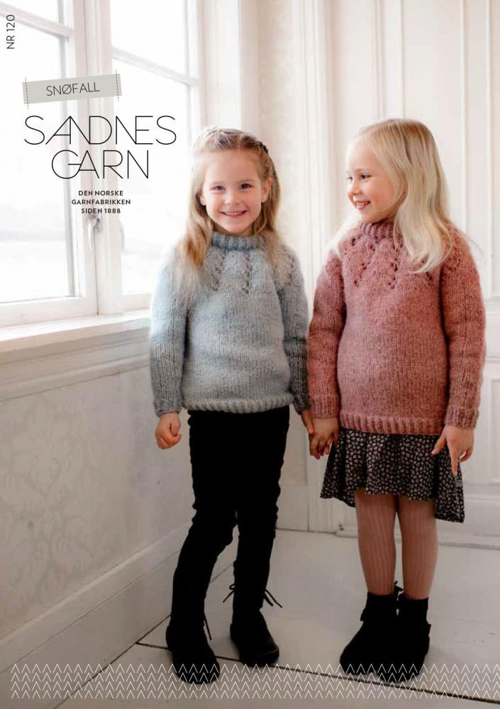 f8b8e9ad 120 Snøfall barn. Sandnes Garn